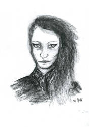 Selfpotrait in charcoal - June by nebozka