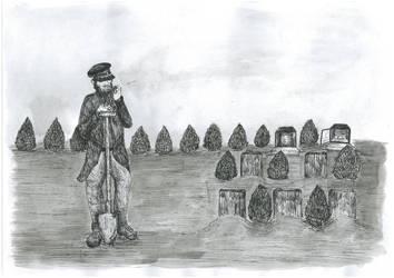 Commission - Graveyard by nebozka