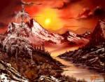 Rocky Sunset by sicMoP