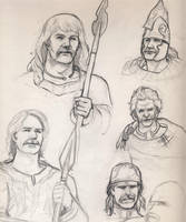 celt sketches by deWitteillustration