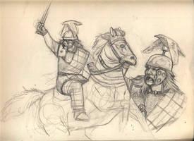 brave vercingetorix by deWitteillustration