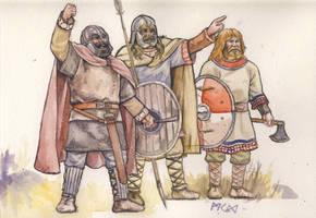 Jeering Saxons by deWitteillustration