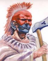 Pawnee Warrior by deWitteillustration