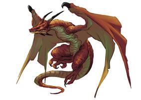 Breath of Fire IV - Wyven Dragon by orochi-spawn