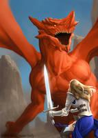Dragon Battle by Monsieur-Beefy