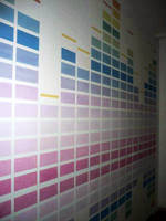 Equalizer painting on wall by Florin-Chis