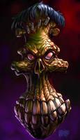 FrankenSkull 'Smiley' by Grimbro