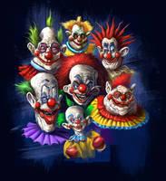 Killer Klown T-shirt design by Grimbro