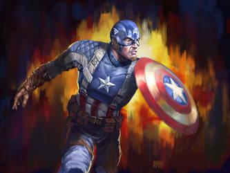 13 NoH Day 8, Captain America by Grimbro