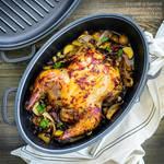 whole chicken with harrisa and chorizo by Pokakulka