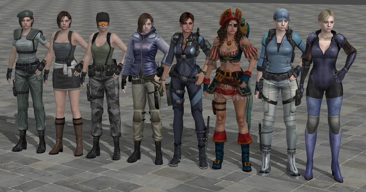 Resident Evil 2 Remake - Page 3 All_outfits_of_jill_by_ismaeluchihasan_d8zygde-pre