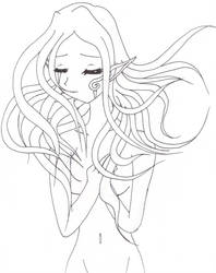 Flowing Hair Girl by DeathsVampire