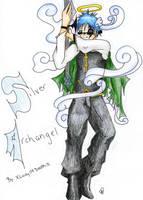 Gaia Commish- Silver_Archangel by DeathsVampire