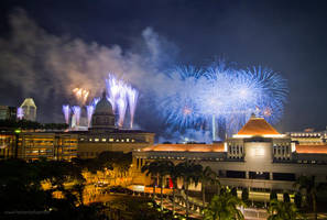 happy 45th birthday, Singapore by b-photo