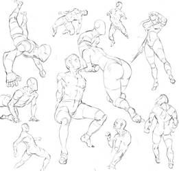 Figure drawings (from imagination) by Joel-Lagerwall