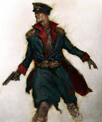 sketch - commissar w40k by Joel-Lagerwall