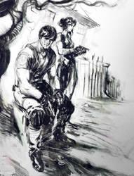 resident evil sketch by Joel-Lagerwall