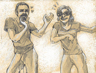 Old Friends Dancing by prcfessora