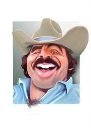 Burt Reynolds Caricature by Steveroberts