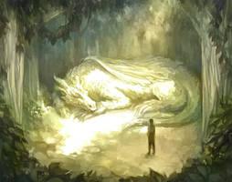 Sunlit Meeting by driftwoodwolf