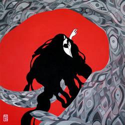 Onryo Mermaid by driftwoodwolf