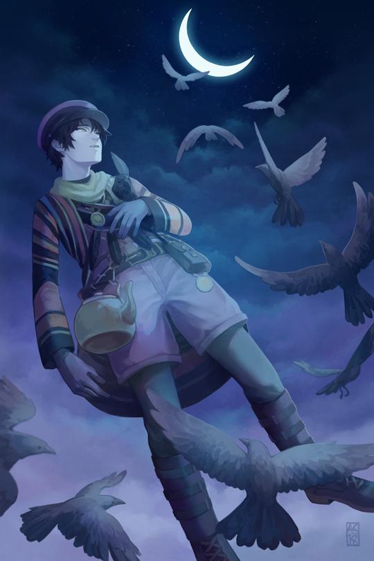 Crow, like the bird by driftwoodwolf