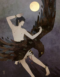 Ganymede by driftwoodwolf