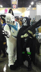furry and death gun by wolfpr