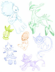 Pokemon Sketch Dump 1 by Xantaria