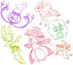 Pokemon Sketch Dump 2 by Xantaria