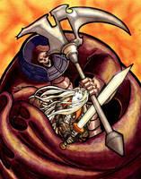 Castlevania: Alucard vs. Death by JoeOiii