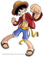 One Piece Luffy by JoeOiii