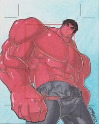 World's Greatest Heroes AP Red Hulk by JoeOiii
