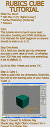 Rubics cube tutorial by 3d-studio-max