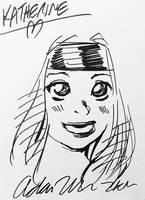 Adam Warren - Kat Sketch by TheD-Wrek