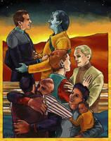 Deep Space Nine Reunion by TheGreenMoon
