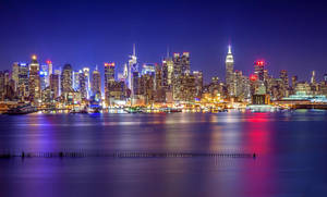 New York - The Colored Night by BrunoCHATARD