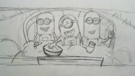 Minion Movie Time - Original Sketch by beachrain