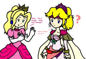 Swap- Peach and Rosa by Pikaripeaches