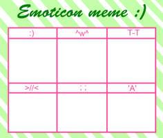 Emoticon meme by GamingInGreen13