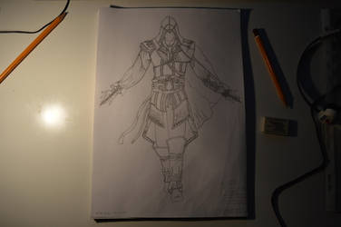 Assassin Creed Drawing Lineart by KelHur