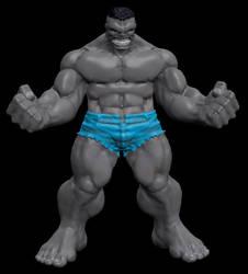 Sculptris Grey Hulk by sup3rs3d3d