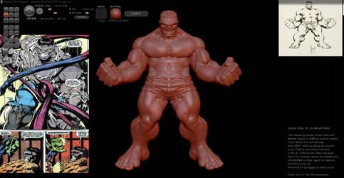 Sculptris Hulk by sup3rs3d3d