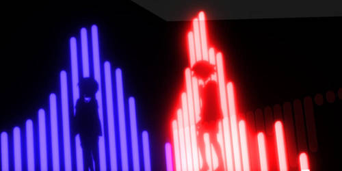 Akai and Ao Lighting Up by JesterX09
