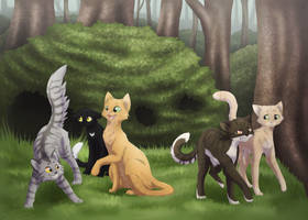Thunderclan's Apprentices - Book 1 by DoeKitty