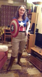 Peggy Carter Cap America cosplay 2 by Laineyfantasy
