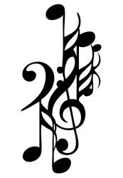Musical notes tattoo by playthis