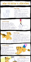 How to draw a Lion King by AudreyCosmo13