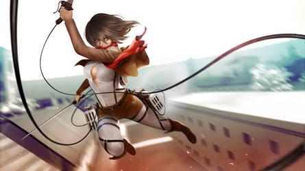 Mikasa Ackerman by alex-malveda