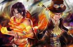 Ace and Sabo by alex-malveda